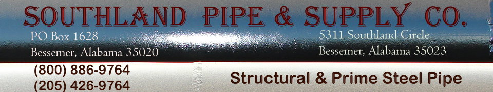 SOUTHLAND PIPE SUPPLY CO, Steel Pipe Piling and Steel Casing, Steel Pipe Fabrication including Bevel Cutting, Welding, Coating,  Bessemer, Alabama -  Birmingham, AL